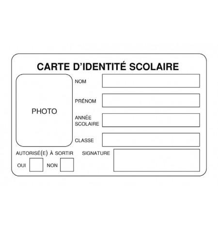 Carte identité scolaire