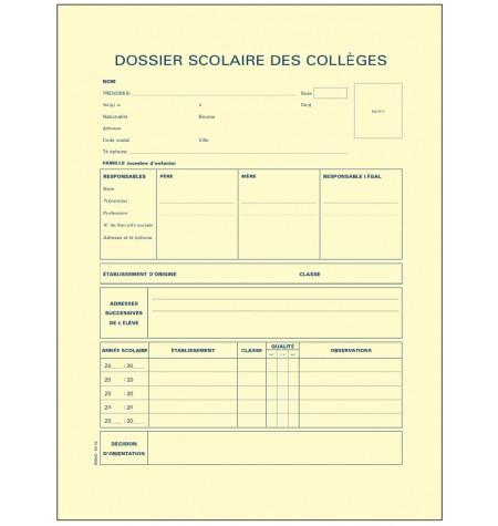 Dossier scolaire