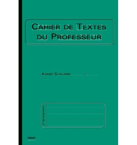 Cahier de textes professeur