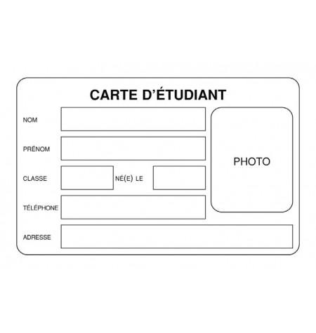 Carte scolaire PVC